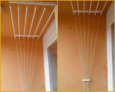 Kuća i bašta - Pirot: PONOVO IMA PLAFONSKA SUŠILICA za vešSa 5 šipki180cm dužina x 50