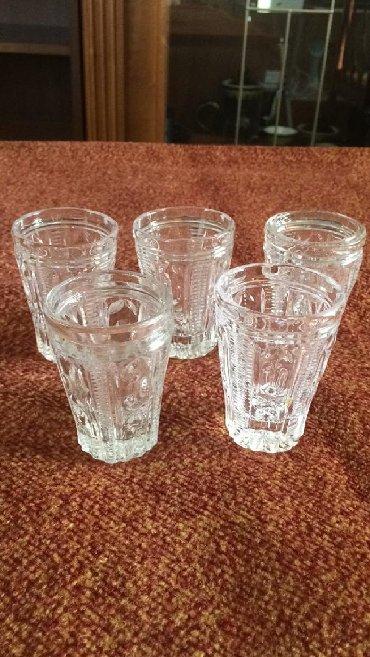 Стеклянные стаканы - Кыргызстан: Стаканы для коньяка или водки 5 шт Хрусталь