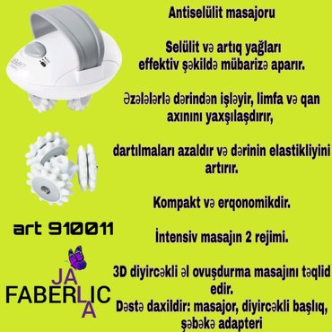 - Azərbaycan: Material-korpus,ABS-plastikTutacaqlar-TPR-plastikGerginlik-220