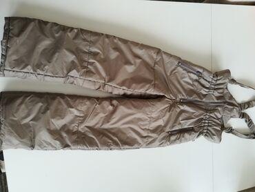 Ski pantalone, zlatna boja, za devojčice uzrasta 8 godina visina