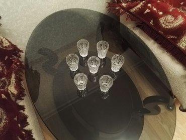Bakı şəhərində хрустальные чешские стаканы, для соков. 7 шт. диаметр: 6 см. высота: