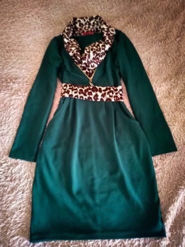 Платье с модным принтом размер xs-s, с карманами. в Бишкек
