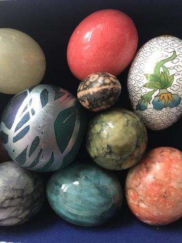 Διακοσμητικά πέτρινα αυγά (8 μεγάλα – 2 σε Athens