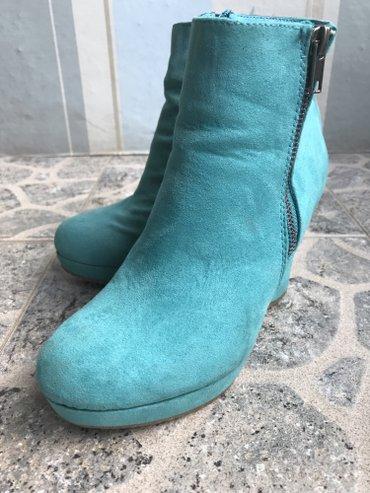 Plave cizme od velura u broju 36 😃😃 - Pirot