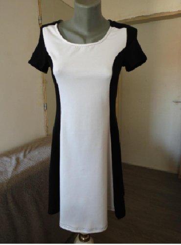 Duks haljina - Kraljevo: Crno bela haljinica MUdobna, pamucna sa elastinom. Lepo zadrzava