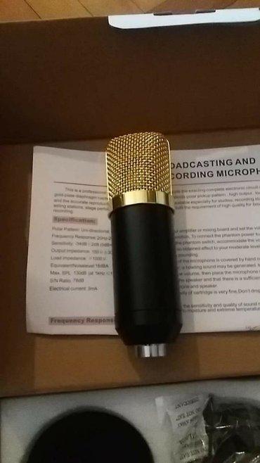 Mikrofoni   Srbija: Studijski mikrofon. Novo. 3400din. 061/