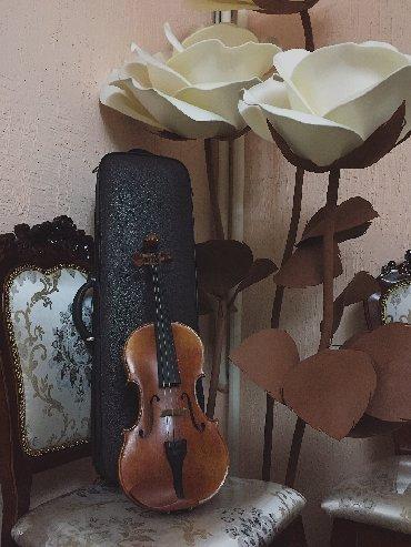Скрипки в Кыргызстан: Скрипка (целая/4/4) Состояние ПОЧТИ новое Цена указана вместе с
