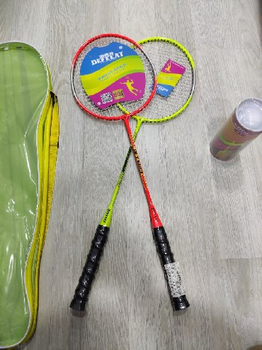 "Ракетки в Азербайджан: Badminton raketkasi ""Defeeat"" +3 ədəd valan ""Defeeat"". Metrolara"