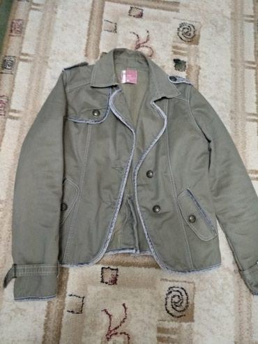 джинсовая куртка с мехом женская в Кыргызстан: Пиджак, куртка muve up, новая, теплая, флисовая