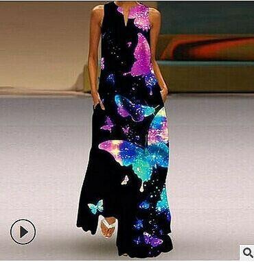 Шикарное летнее платье с 3Д принтом. Ткань тонкая,лёгкая. Не