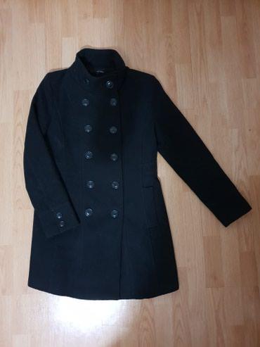 Crni classic zenski kaput tally weijl, veoma ocuvan velicina: 40 - Loznica