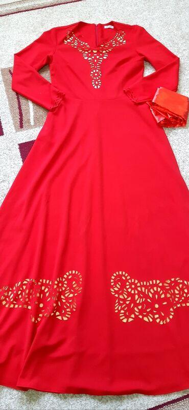 Платье коасное в пол,одевалось один раз,покупала дорого,размер xl