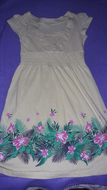 Dečija odeća i obuća - Sombor: Pamucna zuta haljina,128, Savrseno ocuvana