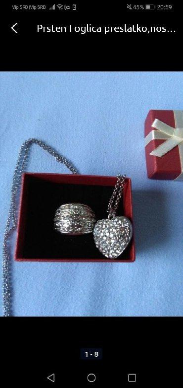 Ostali nakit - Srbija: Prsten i ogrlica nošeno samo jednu svadbu