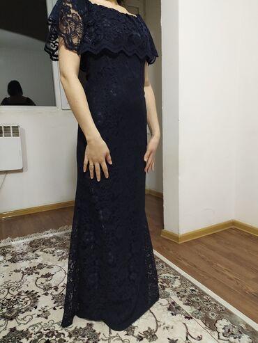 длинное платье с вырезом на ноге в Кыргызстан: Длинное темно синее платье. Производство Турции. Надевала всего один