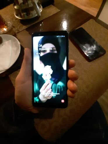 Samsung a7 2015 - Азербайджан: Б/у Samsung Galaxy A7 64 ГБ Синий