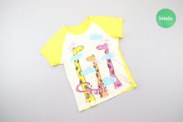 Дитячий топ з принтом жирафів Gloria Jeans, вік 4-6 р., зріст 110-116