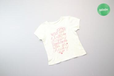 Детская одежда и обувь - Киев: Дитяча футболка з написом     Довжина: 34 см Ширина плечей: 23 см Рука