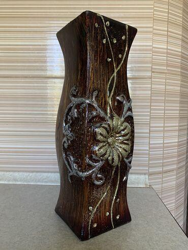 Антикварные вазы - Бишкек: Продаю декоративную керамическую вазу !!!Новая в упаковке! Высота
