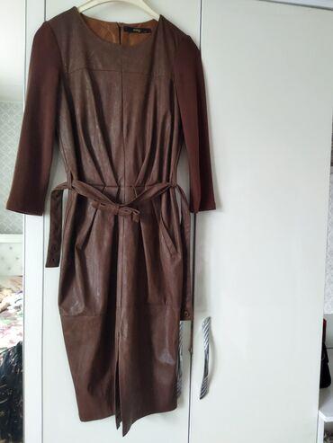 Личные вещи - Ала-Тоо: Кожаное платье очень хорошо подойдёт на осень. красиво сидит по