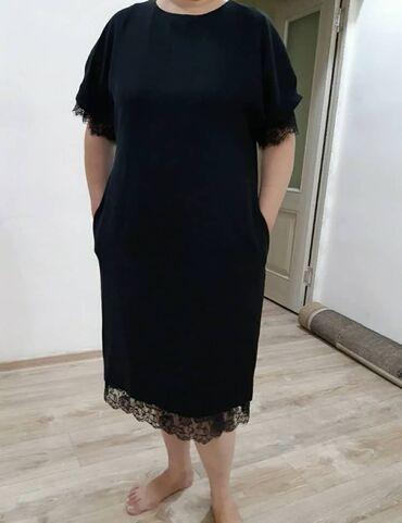 итальянские шелковые платья в Кыргызстан: Платье Свободного кроя L