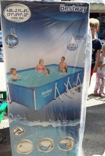 Pumpa za vodu - Srbija: Bestway bazen Steel Pro 400 x 211 x 81 cm sa pumpom - 47000