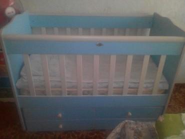 Срочно детская кроватка/ качалка б/у состояние нового. Есть балдахин