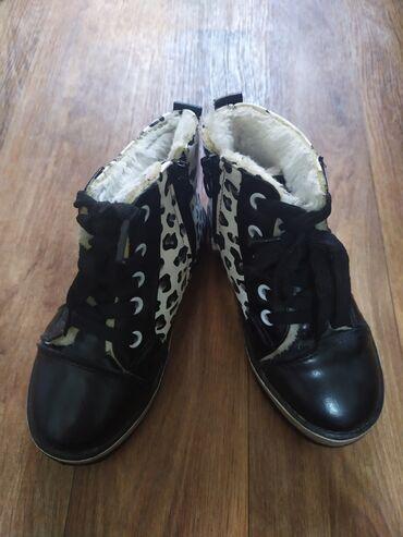 Утеплённые осенне весенние батиночки на девочку, размер 25 в идеальном