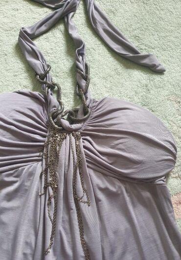 Prelepa haljina, siva, letnja, nova. S-m