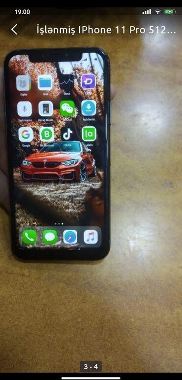 barter telefon - Azərbaycan: İşlənmiş IPhone 11 Pro 512 GB Boz (Space Gray)