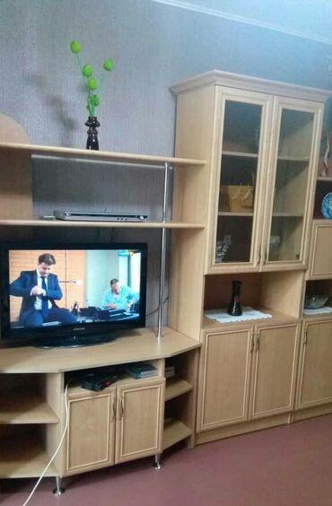 Мебель - Кыргызстан: Горка стенка модульная в зал, для гостинной. Состоит из 5 шкафов