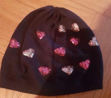 HM ( H&M ) teget kapa za devojcice, sa srcima, sljokice u roze i - Belgrade