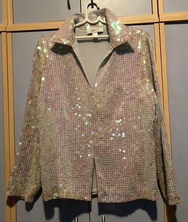 Bluza od šljokica, deblji model, ima naramenice, kad se raskopca može