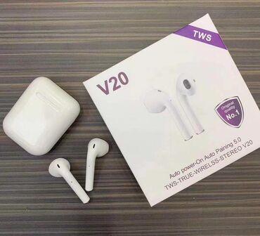 Bluetooth Slusalice V20 TWS komande na dodir Bezicne Novi model V20 -