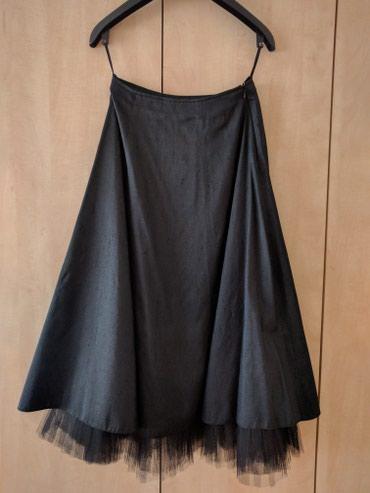 Fara crna čista svila suknja sa til postavom, posebna, elegantna, - Palic