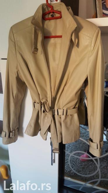 Nova kozna jakna krem boje, nenosena, velicina s, mekana koza, sa kozn - Nis