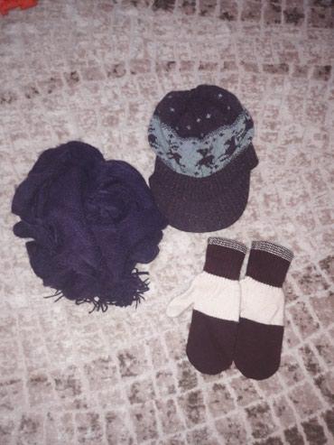 Корейские кепочка, варежки и шарфик ы в Бишкек