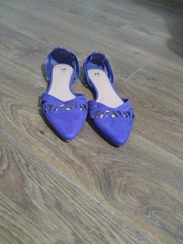 Ženska obuća | Plandište: Veoma lepe H&M baletanke, ljubičasto plave boje. Kupljene preko