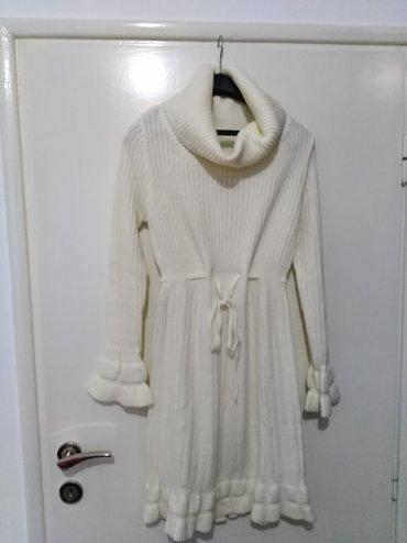 Haljina od trikotaže, nova, prelepa, vel. L,sa rol kragnom i divnim - Pancevo