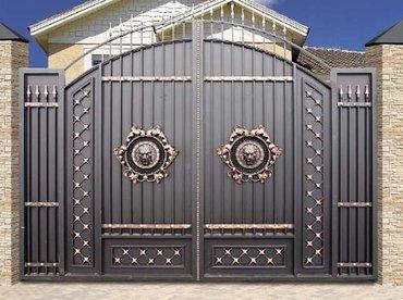 Кованые металлические ворота — в Лебединовка
