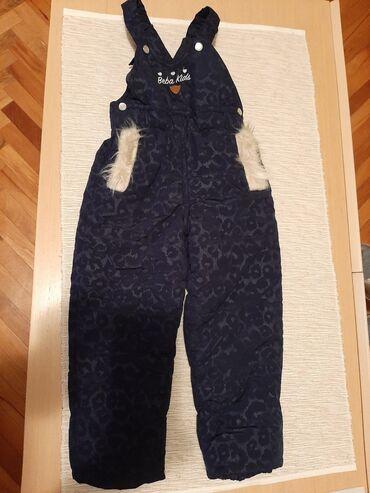 Beba kids Pantalone za sneg i kisu, nepromocive Vel 3(92-98) Teget boj