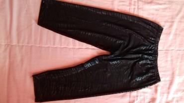 Pantalone sjajne - Srbija: Sjajne crne helanke, kao nove. Duzina nogavica je 82cm a u struku