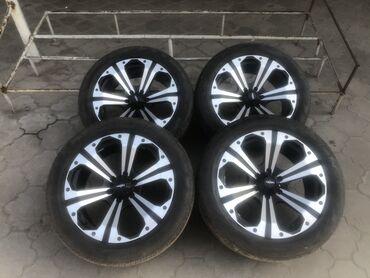 Продаю диски вместе шинами лето б/у toyota-lexus 285/45 r20 состояние