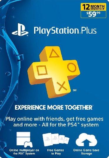 PS4 (Sony Playstation 4) в Кыргызстан: Ps4/Подписка PlayStation+ plus на год!
