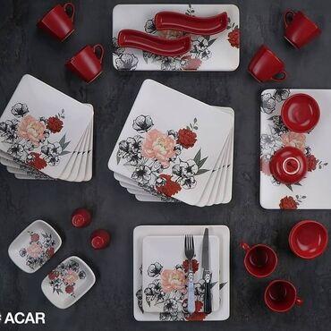 Türkiyə istehsalı olan 6 nəfərlik 33 parça keramika boşqab