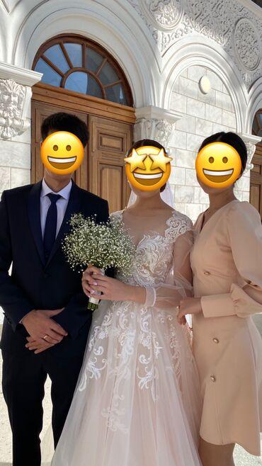 свадебное платье напрокат в Кыргызстан: Продаётся красивое свадебное платье.  Одевала 1 раз на свадьбу, легкое