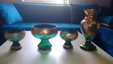 диски разварки на ваз в Азербайджан: Bagema dəsti. İki konfet qabı, bir dənə meyvə qabı və bir güldan