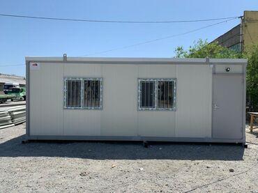 konteyner ofis - Azərbaycan: Ofis tipli sandwich panel konteyner satisi ve icaresi (7m*3m)Uzunluq