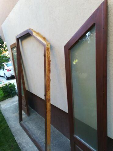 Vrata - Srbija: Terasna vrata, bila na kući 2 godine - do ugradnje PVC stolarije