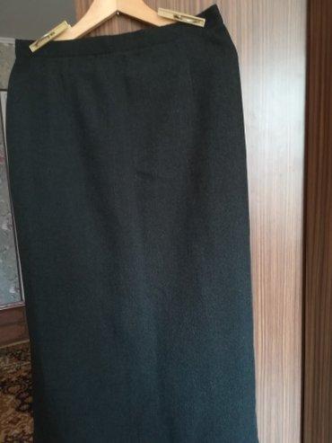 Юбка прямая со шлицей с подкладкой цвет черный размер 48 50 в Бишкек